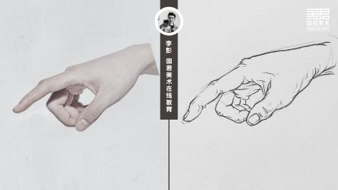 人物速写_局部手_男士手3_白描_李彭